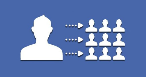 Facebook lookalike audience blue and white