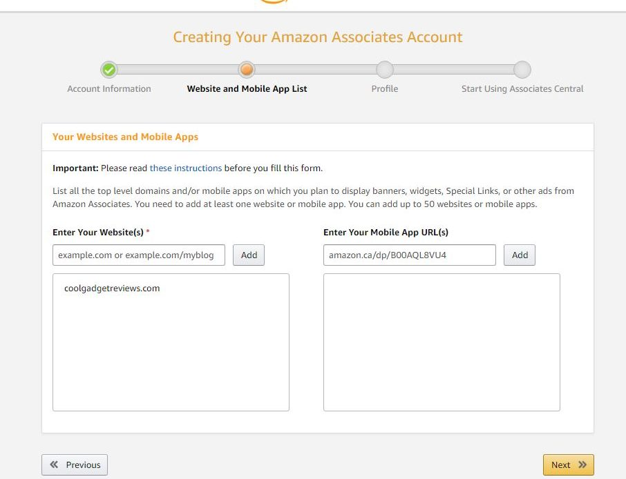 affiliate marketing Amazon confirm you r site