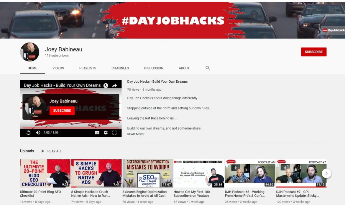 Day Job Hacks Youtube