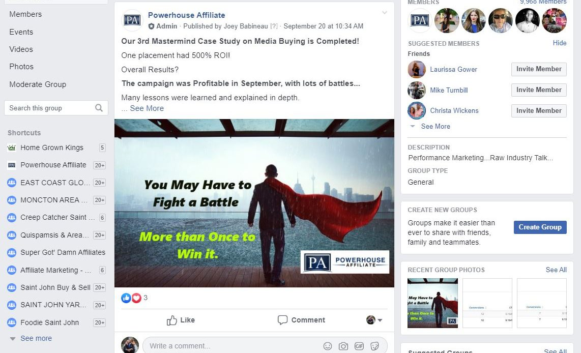 Powerhouse Affiliate Facebook Group