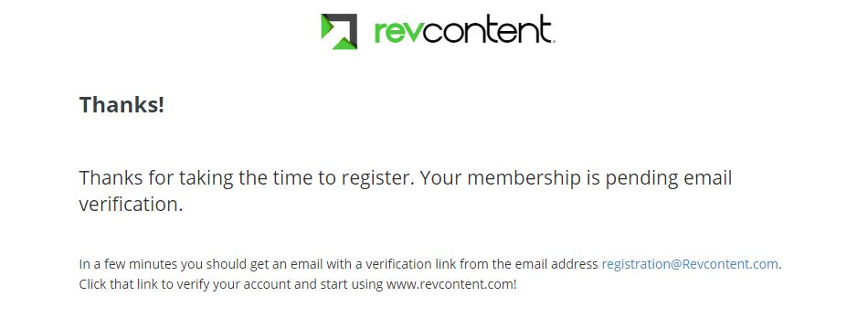 revcontent verification email