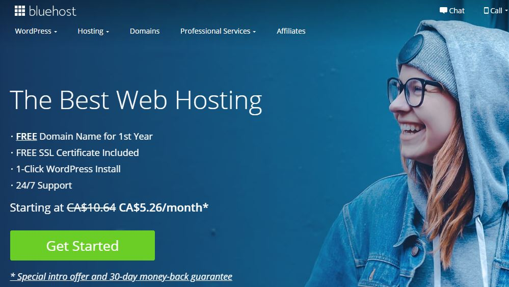 wordpress hosting - bluehost