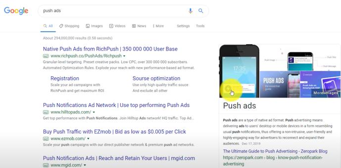 Google Push Ads