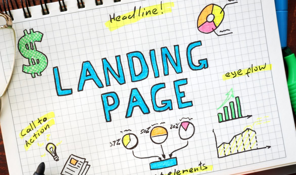 Landing pages help with higher conversions